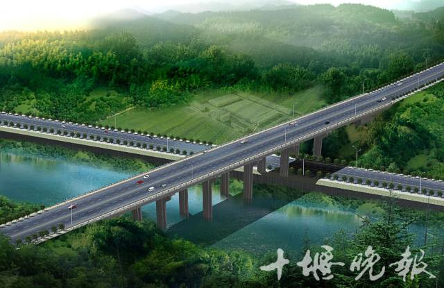 航空路跨许白路高架桥效果图方案