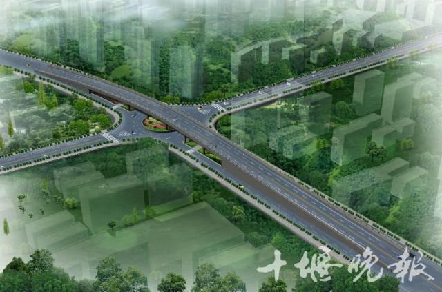 航空路跨和谐路高架桥效果图方案