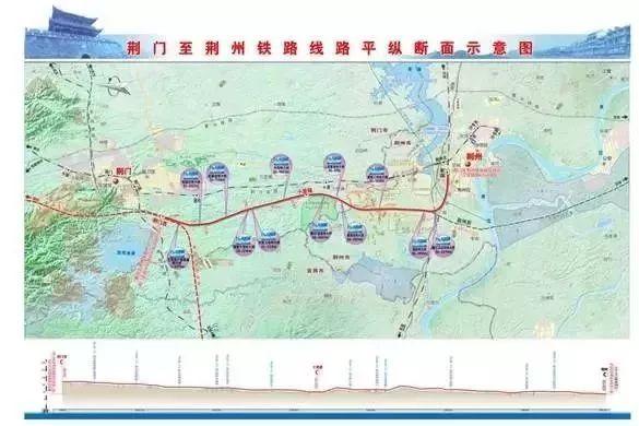 荆荆高铁线路北起荆门市,南至荆州市.