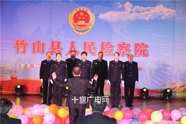 司法警察队列展示及小合唱《人民警察之歌》