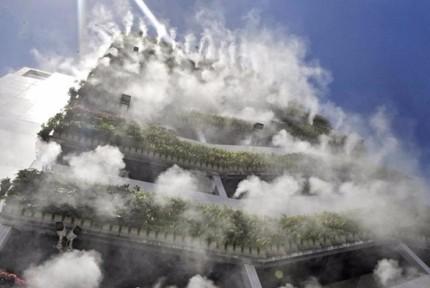 """10层高楼成网红 垂直绿化""""仙气飘飘"""""""