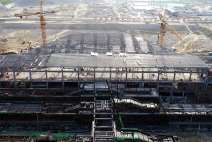 漢十高鐵十堰境內三個站房工程全部封頂