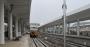 今日凌晨,汉十高铁长轨左线铺设进入十堰北站