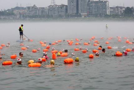 1000余人出戰 丹江口市成功舉辦夏日冬泳挑戰賽