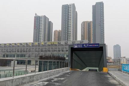 十堰火車站北廣場地下公交換乘中心正式投用