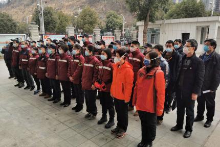 广西第二批医疗队一行14人抵堰,道出了感人的承诺与祝福
