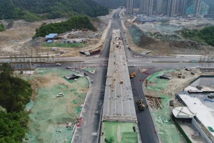 航拍視角!帶你看江蘇路延長線的新變化