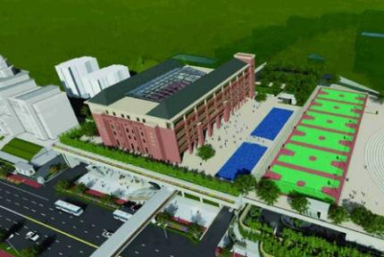 郧阳中学将进行改扩建,新教学楼效果图公布