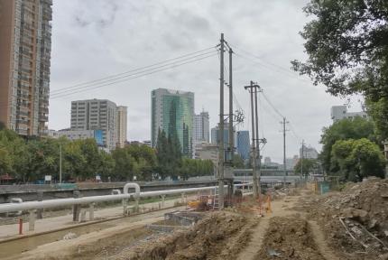 百二河生态修复工程电力设施迁改何时完工?看这里