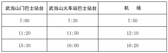 《【杏耀安卓版登录】最新!武当山机场巴士时刻表有调整!》