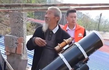 """十堰村民自建天文台当现代""""夸父"""" 追逐日食三十多年"""