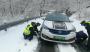 路况丨大川飘起小雪,部分路段积雪较厚,车辆需带链通行